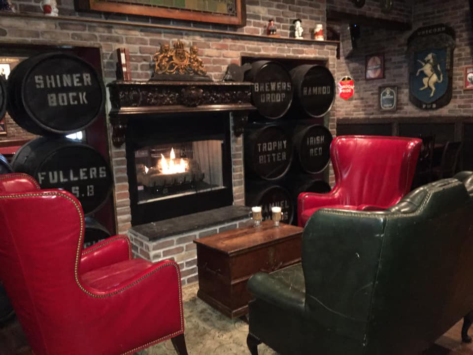 The Londoner Colleyville fireplace seating